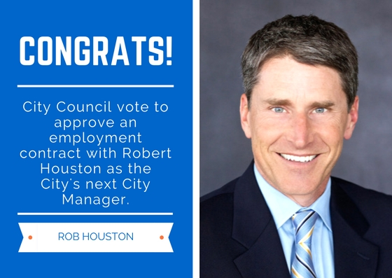 Fountain Valley New City Manager, Robert J. Houston | City of Fountain Valley