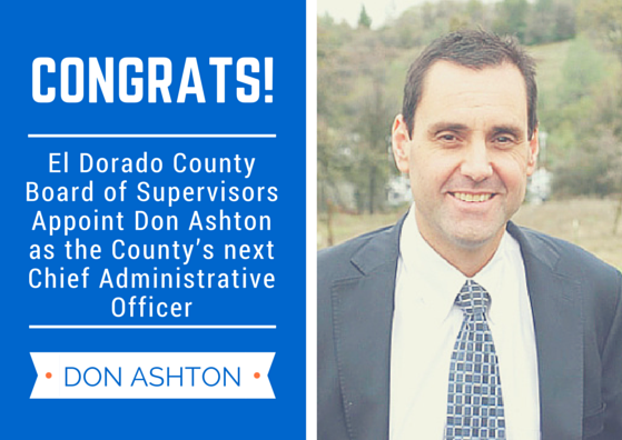 Don Ashton named CAO of El Dorado County | Village Life