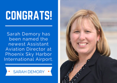 Sarah Demory Named Assistant Aviation Director at Phoenix Sky Harbor International Airport | PHX Sky Harbor International Airport