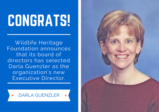 Darla Guenzler Named as New Executive Director of The Wildlife Heritage Foundation | Wildlife Heritage Foundation