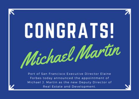 Congrats Michael Martin Image