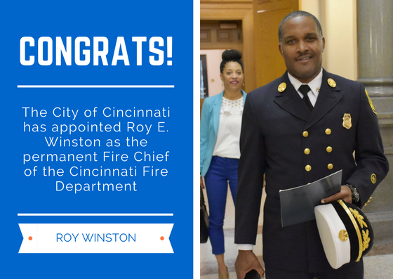 City Appoints Interim Fire Chief Winston to Permanent Position | Cincinnati, OH