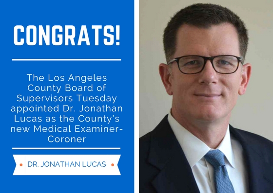 New coroner to lead LA County Morgue after stints in New York, San Diego   Los Angeles Daily News