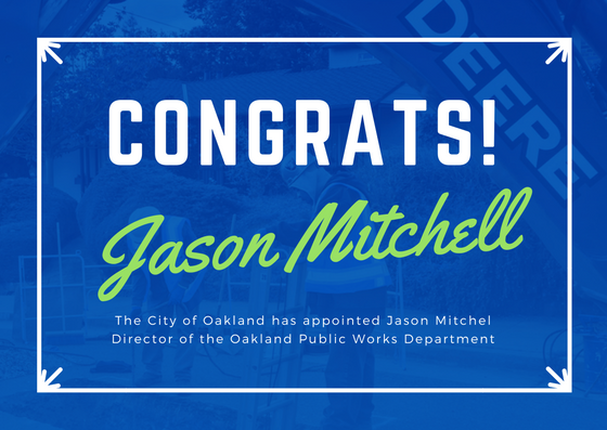 Oakland Appoints Jason Mitchell Public Works Department Director | Bay City News