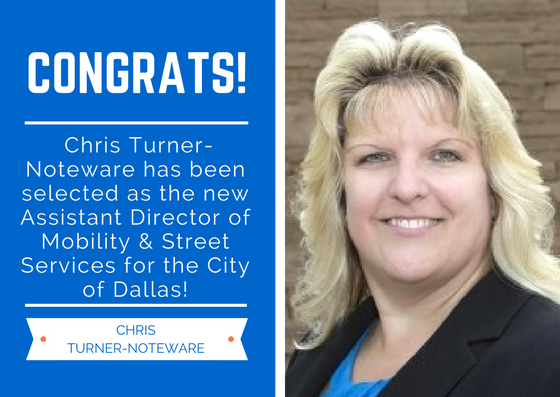 Chris Turner-Noteware Selected as Assistant Director of Mobility & Street Services | Dallas, TX